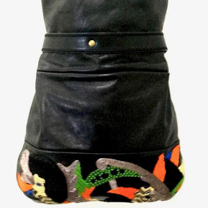 RARE Stunning Chloe Embroidered Leather Bucket Bag